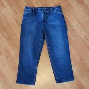 NEW J.JILL tried & true fit crop denim jean capris